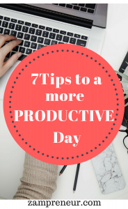 Do you find it a challenge to stay productive? here are 7 tips to help improve your productivity #productivitytips