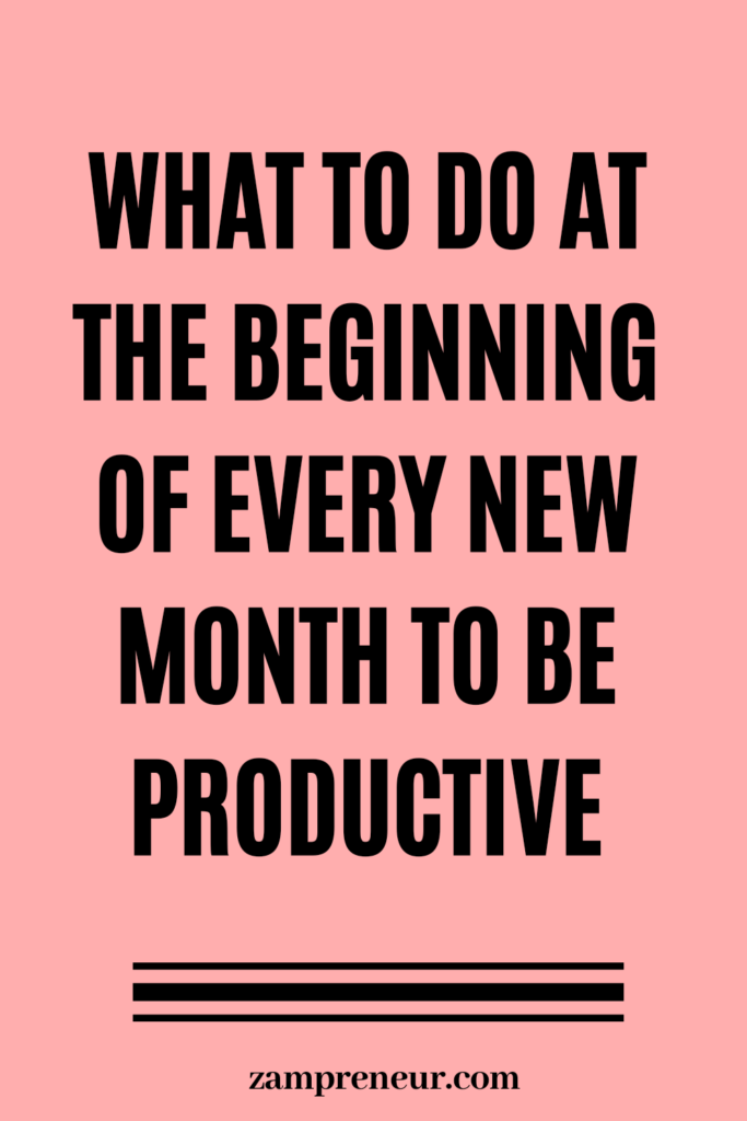what to do in a new month